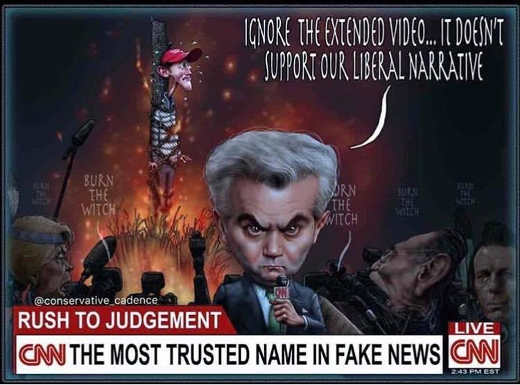 jim acosta cnn rush to judgement ignore extended video burn maga boy at stake