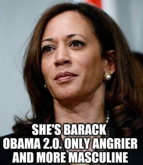 kamala harris is barack 2.0 only angrier and more masculine