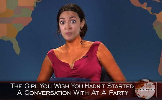 ocasio cortez girl you wish you hadnt started a conversation with at party