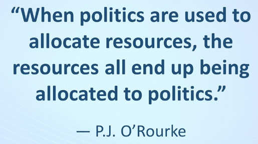 orourke when politics are used to allocate resources all resources allocated to politics