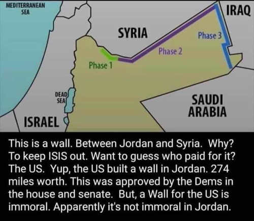 paid for wall to syria to stop isis wont build country border