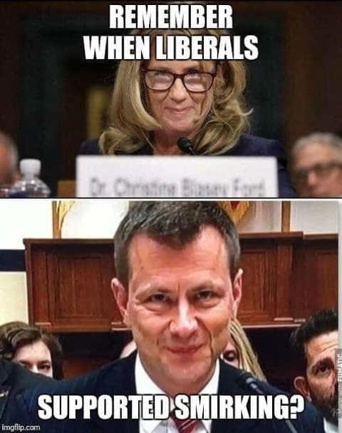 remember when liberals supported smirking comey ford