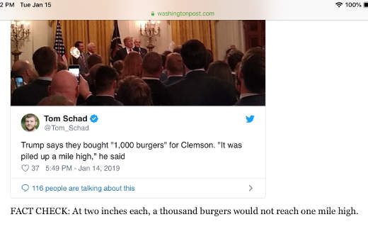 washington post facts check trump burgers piled mile high
