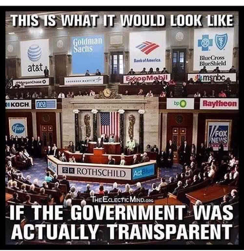 what it would look like if government were transparent corporate media control