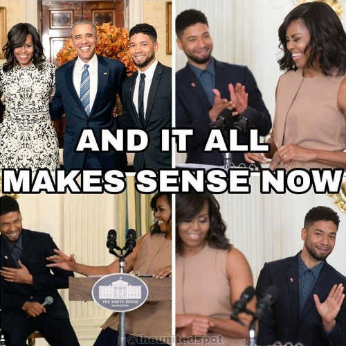 and it all makes sense now jussie smollett with michele barack obama