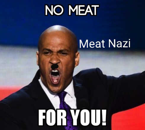 cory booker no meat for you