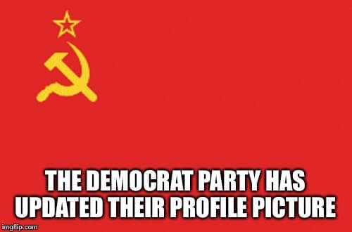 democratic party changed profile picture soviet communist flag