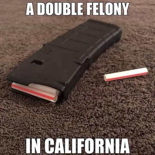 double felony in california magazine with straws