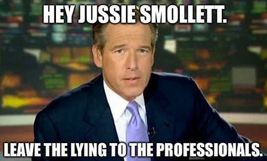 hey jussie smollett leaving lying to professionals journalists