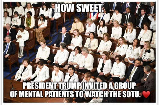 how sweet trump invited group of mental patients to watch state of union