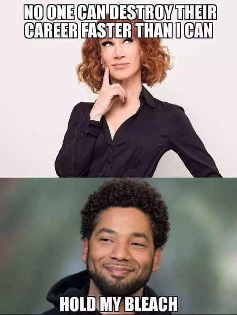 kathy griffin no one can kill their career faster than me smollett hold my bleach