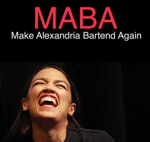 make alexandria bartend again ocasio cortez