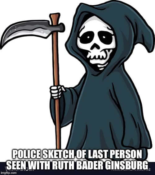police release sketch of last person seen with ruth bader ginsburg grim reaper
