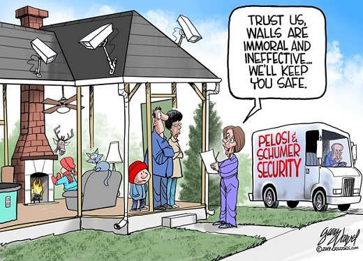 schumer pelosi trust us walls immoral we will protect you house