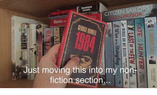 1984 now moved to non fiction section