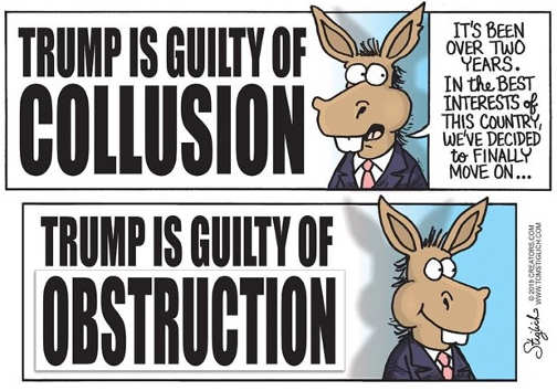 democrats trump guilty of collusion lets move on trump guilt of obstruction