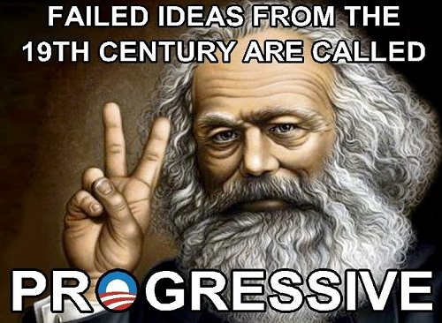 failed ideas from 1900s called progressive karl marx communism socialism