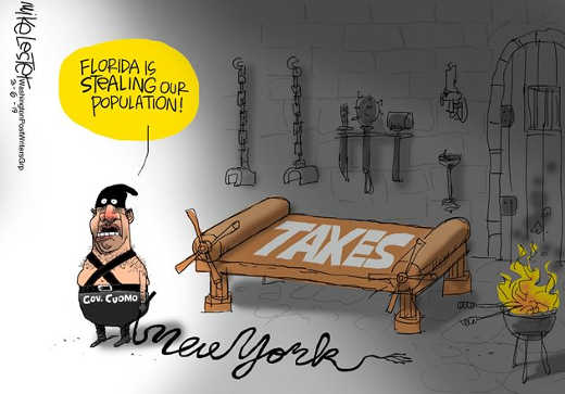 governor cuomo people fleeing new york for florida tax torture