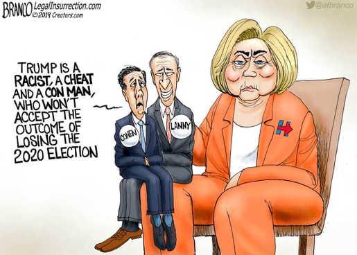 hillary clinton puppet lanny davis michael cohen trump racist con man