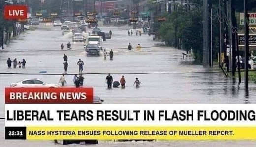 liberal tears after mueller report result in flash flooding