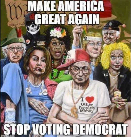 make america great again stop voting democrat schumer pelosi watters warren bernie sanders