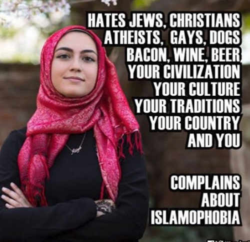 muslim hates jews gays bacon dogs everything about western culture complains about islamophobia