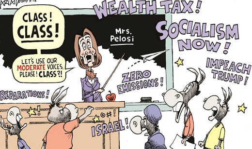 nancy pelosi teaching moderating class to children socialism now wealth tax