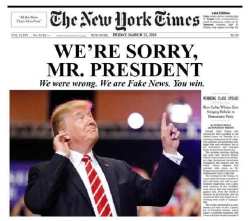 new york times were sorry my president
