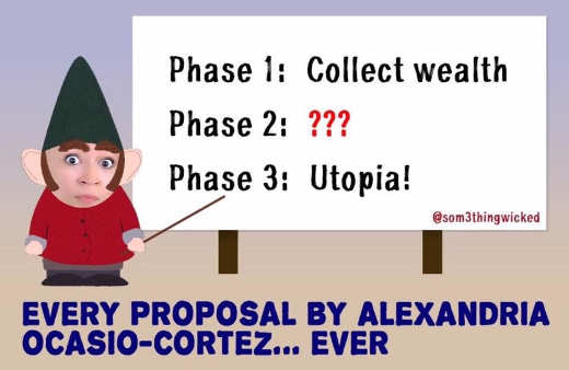 ocasio cortez every proposal collect wealth phase 3 utopia
