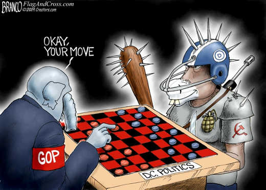 okay your move checkers gop vs democrat spikes grenade gun helmet
