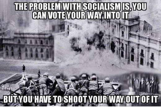 problem with socialism you can vote your way into have to shoot your way out of it