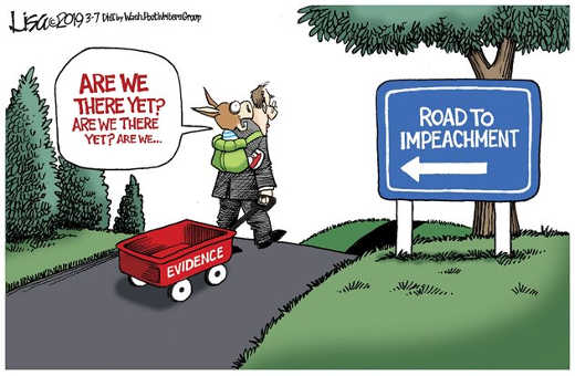 road to impeachment ride empty evidence wagon democrats