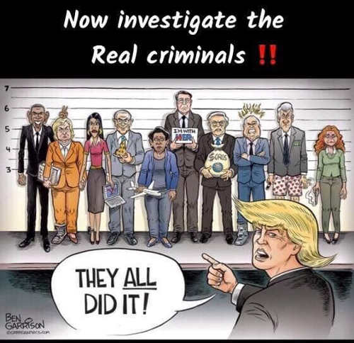 trump now investigate real criminals obama hillary soros comey