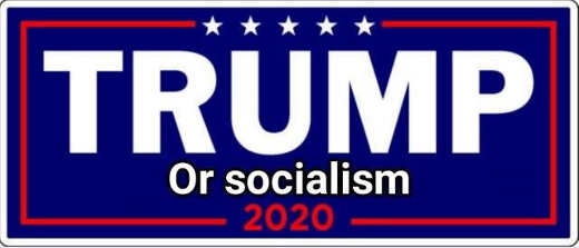 trump or socialism 2020 bumper sticker