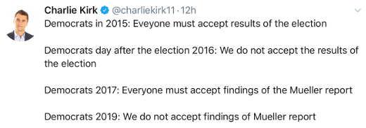tweet democrats before after 2016 election mueller report