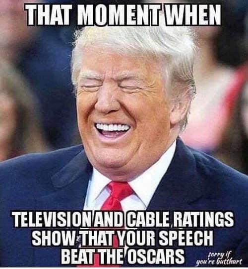 when trump cpac speech higher ratings than oscars