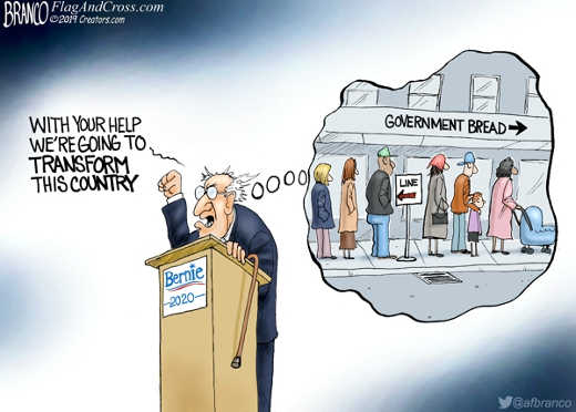 with your help tranform country bernie government bread lines