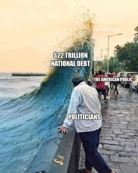 22 trillion national debt american public politicians ignoring