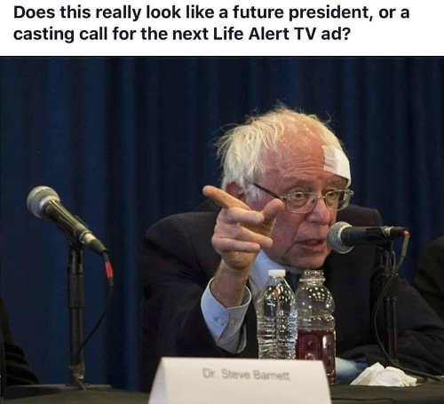 bernie sanders future president or next life alert tv ad