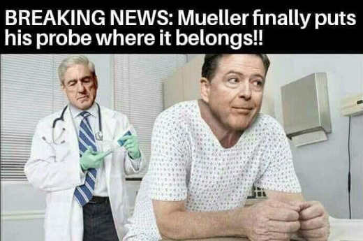 breaking news mueller finally puts probe where it belongs comey prostate exam