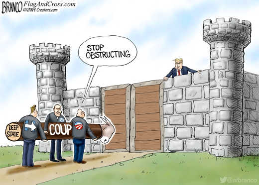 coup deep state stop obstructing trump