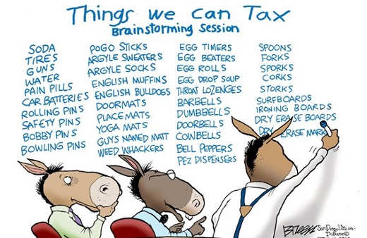 democrats things we can tax brainstorming session