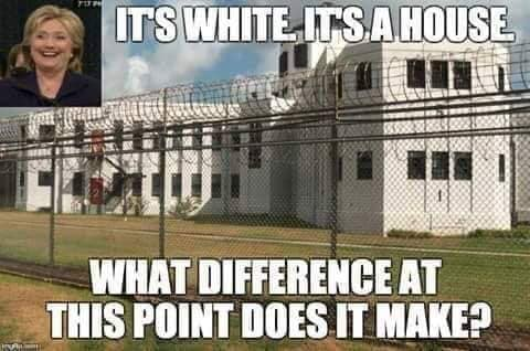hillary clinton its white its a house what difference at this point does it make