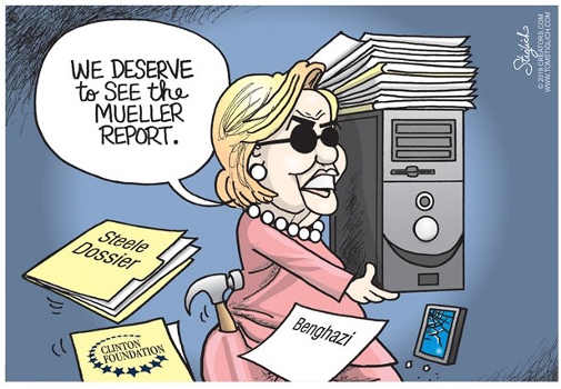 hillary we deserve to see whole mueller report destroying server emails
