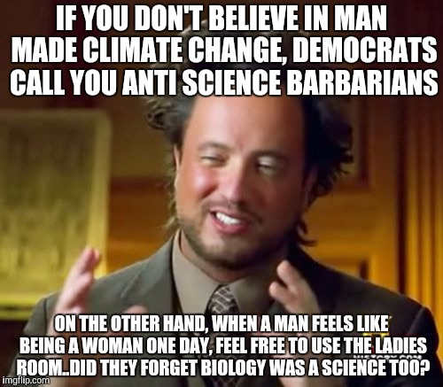 if you dont believe climate change called anti science transgender forget biology is a science too