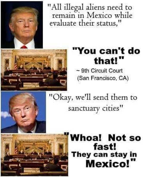immigrants stay in mexico evaluate status 9th circuit cant do that trump response