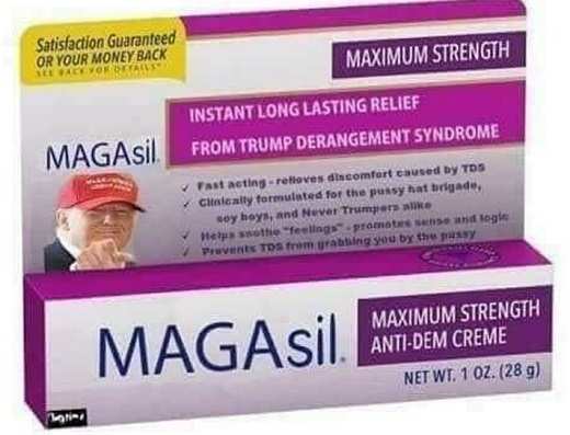 magasil anti democrat creme for trump derangement sydrome