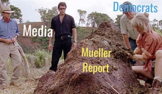 media democrats shit mueller report jurassic park