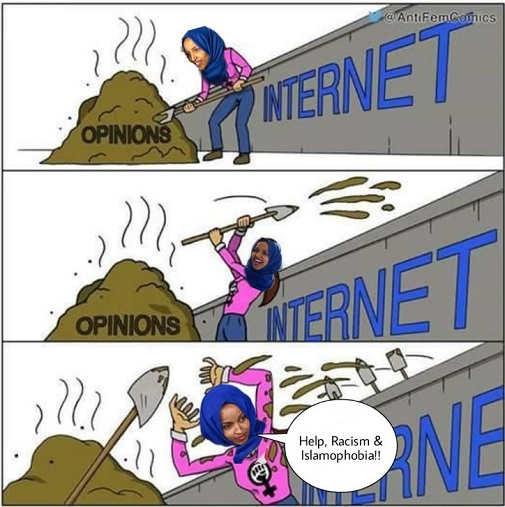omar shoveling opinions on internet help racism islamophobia