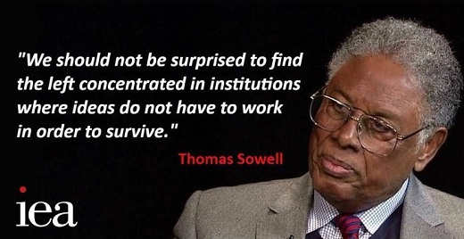 quote thomas sowell should not be surprised left in institutions where ideas dont have to work to survive
